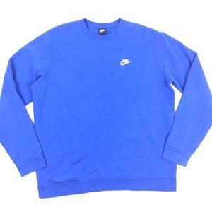 Nike Blue Sweatshirt 80s 90s USA Pullover Sweater